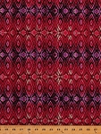 Cotton Stripes Striped Diamond Shapes Geometric India Orient Silk Road Spice Route Pink Purple Ombre Cotton Fabric Print by the Yard (CX6047-MAGE-D)