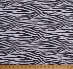 Cotton Zebra Stripes Animal Print African Animals Metro Living Gray White Cotton Fabric Print by the Yard (EZC-11175-12-GREY)