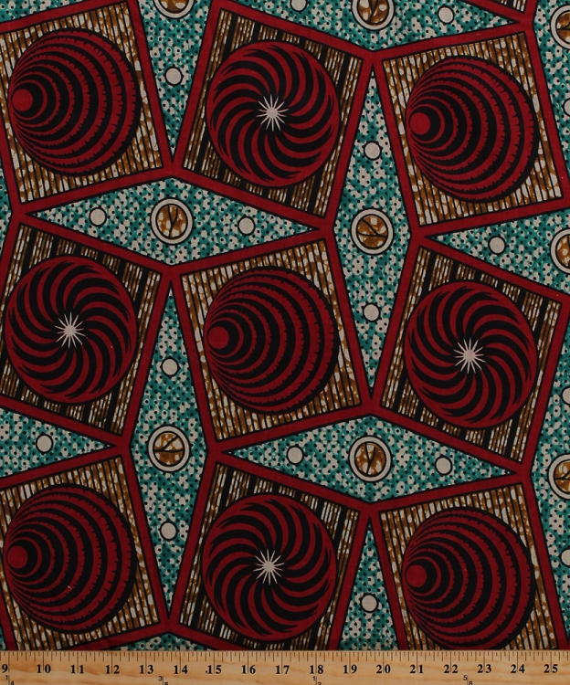 Cotton African Designs Circles Tribal Geometric Patterns