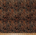 Cotton Tiger Stripes Animal Print Skin Black Brown Wild Side Cotton Fabric Print by the Yard (39073-985)