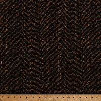 Cotton Zebra Stripe Animal Print Skin Stripes Zig Zags Chevrons Black Brown African Cotton Fabric Print by the Yard (AJI-12973-166HAZELNUT)