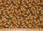 Cotton Corn Thanksgiving Ears of Corn on the Cob Fall Autumnal Let Us Give Thanks Green Cotton Fabric Print by the Yard (36247-3)