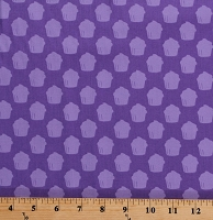 Cotton Cupcakes Allover Desserts Treats Food Bakery Mini Cakes Baked With Love Purple Cotton Fabric Print by the Yard (AMF-14420-6-PURPLE)