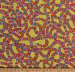 Cotton Roller Coaster Yellow Brandon Mably Spring 2015 Cotton Fabric Print by the Yard (PWBM049-YELLOW)