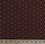 Cotton Jo Morton Isabella Circles Jacks Rust Red Civil War Reproduction Historical Cotton Fabric Print by the Yard (A-7942-NR)