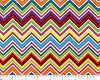 Cotton Chevron Pattern Zigzag Striped Colorful Waves Mardi Gras Cotton Fabric Print by the Yard (8129-02)