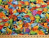Cotton Fish Packed Colorful Fish Animal Ocean Cotton Fabric Print by the Yard (michael-c1388)