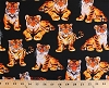 Cotton Tigers Tiger Cub Babies Baby Cubs Jungle Rainforest Animals Allover Black Orange Cotton Fabric Print by the Yard (michael-c3157-black)