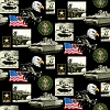 Cotton United States of America Army USA Patriotic Military Cotton Fabric Print by the Yard (1021a)