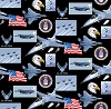Cotton United States of America Air Force USA Patriotic Military Cotton Fabric Print by the Yard (1021af)