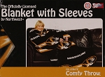 Comfy Throw Fleece Blanket with Sleeves Licensed College Emblems Missouri Tigers