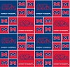 Cotton University of Ole Miss Mississippi Rebels College Cotton Fabric Print - sms020s