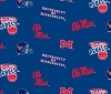 University of Mississippi™ Rebels™ Ole Miss College Fleece Fabric Print