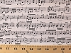 Cotton Music Notes Treble Bass Clef Staff Lines Cream Cotton Fabric Print by the Yard (music-c1693)