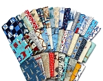10 Fat Quarters - Assorted Nautical Sea Ocean Ships Boats Anchors Sailors Seagoing Sailing Boating Waves Lighthouses Anchors Quality Quilters Cotton Fabrics M227.01