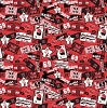 Cotton University™ of Nebraska Cornhuskers College Cotton Fabric Print - sneb084s