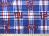 Fleece New York Giants NFL Football Plaid Fleece Fabric Print by the Yard (s6416df)