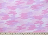 Camouflage Light Pink Purple Fleece Fabric Print by the Yard k26552-1b
