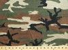 Fleece (not for masks) Woodland Camouflage Green Brown Fleece Fabric Print by the Yard ocamog