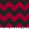 Fleece (not for masks) Chevron Red / Black Stripe Zig Zag Fleece Fabric Print by the Yard odt-3202-3a-16d