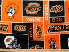 Oklahoma State University™ Cowboys™ College Fleece Fabric Print