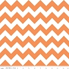 Cotton Chevron Zigzag Orange White Striped Cotton Fabric Print by the Yard (C320-60)