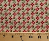 Cotton Jo Morton Lucinda's Needle Flower Floral Mini Polka Dot Civil War Reproduction Cotton Fabric Print by the Yard (p0260-3627)