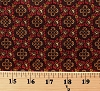 Cotton Jo Morton Cinnamon & Spice Civil War Flowers Red Cotton Fabric Print by the Yard (p0260-3983-rn)
