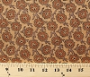 Cotton Jo Morton Harmonies Civil War Flowers Brown Cotton Fabric Print by the Yard (p0260-3990-n)