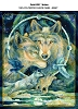Wolf Wolves Fleece Fabric Panel p1397s