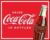 Coca-Cola Drink Coca Cola in Bottles Soda Pop Red Fleece Fabric Panel p1495s