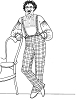 Past Pattern Men's Spring-Bottom Winter Trousers with or without Foot Straps Circa Sewing Pattern