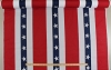 Patriotic USA Red White and Blue Bunting Banner Display 60