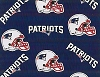 Fleece New England Patriots Navy NFL Football Fleece Fabric Print by the yard (s6465df)
