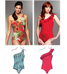 Kwik-Sew Pattern – One Shoulder Swimsuits