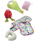 Kwik-Sew Pattern – Bibs, Burp Cloth, Pillows & Toy
