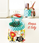 Kwik-Sew Pattern – Pouch with Pincushion & Cup Organizer