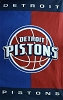 NBA® Cotton Duck Fabric Panel - Detroit Pistons - 30