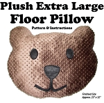 Plush Extra Large Teddy Bear Floor Pillow Pattern and Instructions (M409.14)