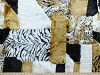 Animal Print Patchwork Jungle Animal Prints Zebra Cheetah Leopard Tiger Crazy Patch Skin Luxury Fur Fabric by the Yard (R0123766)