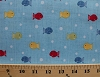 Cotton Ships Ahoy Fishy Fishy Colorful Fish Ocean Blue Cotton Fabric Print by the Yard (rn-124655-blue)