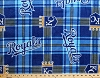 Fleece (not for masks) Kansas City Royals Plaid MLB Baseball Sports Team Fleece Fabric Print by the yard