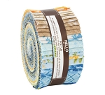 Jelly Roll Beckford Terrace Sky Colorstory by Hyun Joo Lee for RK Roses Garden Blue Yellow Flowers Floral Botanical 2.5