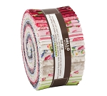 Jelly Roll Farmhouse Rose by Lynnea Washburn for Robert Kaufman Roses Stripes Flowers Floral 2.5