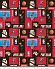Portland Trailblazers NBA Pro Basketball Sports Team Fleece Fabric Print