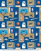 Fleece Washington Wizards NBA Pro Basketball Sports Team Fleece Fabric Print by the yard (s012wizardss)