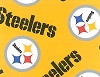 Fleece Pittsburgh Steelers Yellow NFL Pro Football Sports Team Fleece Fabric Print by the yard (s6235df)