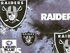 Fleece Oakland Raiders Liquid Blue NFL Football Fleece Fabric Print by the yard (s6340df)