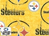 Fleece Pittsburgh Steelers Liquid Blue NFL Pro Football Sports Team Fleece Fabric Print by the yard (s6341df)