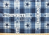 Fleece Dallas Cowboys NFL Football Plaid Fleece Fabric Print by the yard (s6391df)